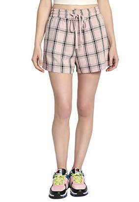 Plaid Drawstring Shorts -