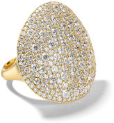 Ippolita Large Stardust East-West Oval Dome Ring in 18K Gold with Diamonds, Size 7
