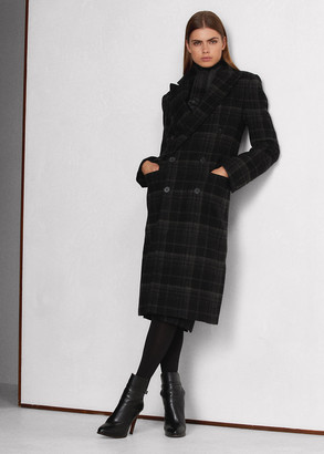 Ralph Lauren Rosetta Lambswool-Cashmere Plaid Coat