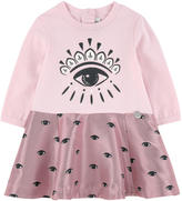 Kenzo Eye bi-material dress
