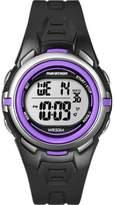 Timex Women's Marathon® Digital Mid-Size |Black and Purple| Sport Watch T5K364