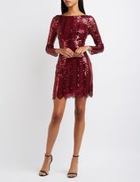Charlotte Russe Scalloped Sequin Bodycon Dress