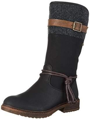 Rieker Women Boots 94778, Ladies Winter Boots, Long Shaft Boots,Lined,Warm,Waterproof,Schwarz,37 EU / 4 UK