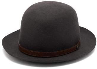 Borsalino Traveller Felt Bowler Hat - Mens - Grey
