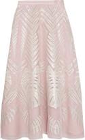 Temperley London Kapena embroidered silk-tulle midi skirt