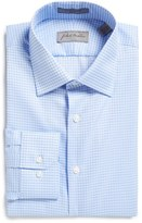 John W. Nordstrom Trim Fit Non-Iron Windowpane Dress Shirt