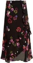 Preen Line Hattie pansy-print crepe skirt