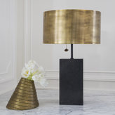 Kelly Wearstler ZUMA TABLE LAMP - BRONZE w/ BRASS