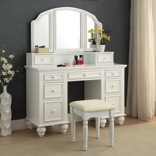 Furniture of America Boke Transitional Solid Wood 3-piece Vanity Set