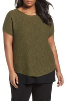 Eileen Fisher Plus Size Women's Organic Linen & Cotton Rib Sweater