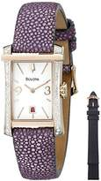 Bulova Women's 98R197 Analog Display Quartz Purple Watch