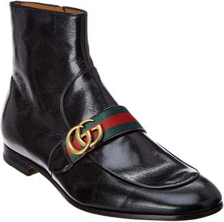 Gucci Interlocking G Leather Boot