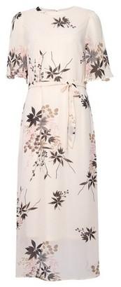 Dorothy Perkins Womens Pink Floral Print Short Sleeve Midi Dress, Pink
