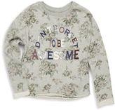 C&C California Girl's Printed Fleece Pullover