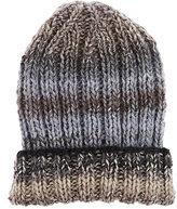 Grevi Men's Ombré Striped Wool-Blend Cap-GREY