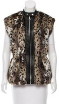 Rebecca Taylor Leopard Print Faux Fur Vest w/ Tags