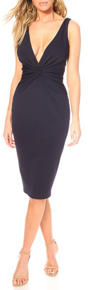Katie May Zaza Deep V-Neck Sleeveless Cutout-Back Twist Dress