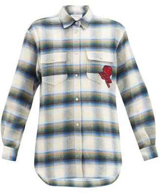 Golden Goose Allison Checked Cotton-flannel Shirt - Blue Multi