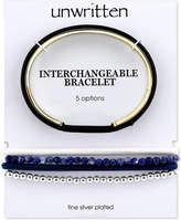Unwritten Interchangeable Hair-Tie Cuff Bracelet in Gold-Tone Stainless Steel