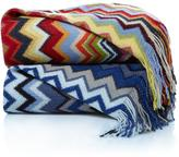 Concierge Collection Elements Multicolor Zigzag Throw with Fringe