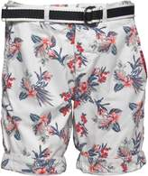 Superdry Mens International Print Chino Shorts Vintage White Aloha Print
