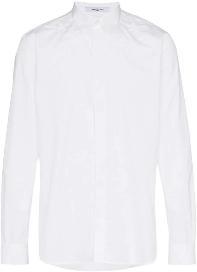Givenchy stars around the neck embroidered shirt