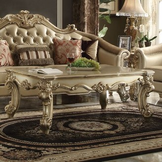 Astoria Grand Welty 2 Piece Coffee Table Set Astoria Grand Color: Gold Patina/Bone
