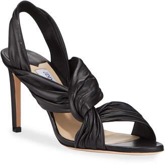 Jimmy Choo Lalia Twisted Leather Sandals