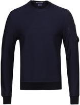 Cp Company Navy 3d Tacting Crew Neck Watchviewer Sweatshirt