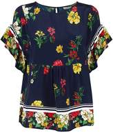 Joie Ayako Floral Print Blouse