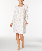 Charter Club Fleece Lace-Trimmed Printed Nightgown, Only at Macy's