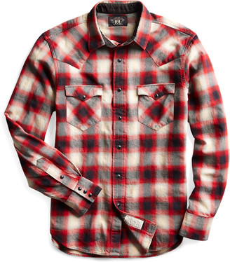 Ralph Lauren Slim Fit Plaid Western Shirt