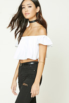 Forever 21 FOREVER 21+ Off-the-Shoulder Crop Top