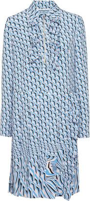 Prada Ruffled Poplin Shirt Dress