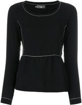 Cotélac frill-trim knitted sweater