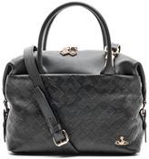 Vivienne Westwood Women's Harrow Embossed Leather Small Shoulder Bag Black
