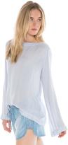 Bella Dahl Bell Sleeve Tie Back Shirt-Lavender Blue-XS