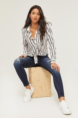 Ardene Striped Knotted Shirt