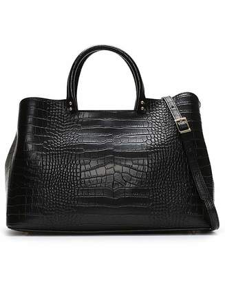 Daniel Footwear Daniel Mintley Moc Croc Leather Tote Bag