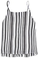 Aqua Girls' Layered Striped Top , Big Kid - 100% Exclusive