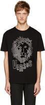 Versus Black Eyelet Lion T-Shirt