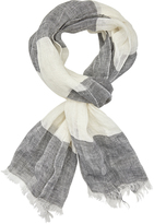 Oxford Nick Wide Stripe Linen Scarf