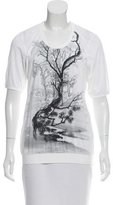 Balenciaga Printed Scoop Neck T-Shirt