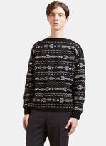 Lanvin Men's Arrow Knit Boat Neck Sweater In Black