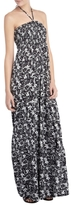 Mono Floral Bandeau Maxi Dress, Black/white