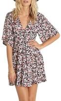 Billabong Women's Dolly Print Flutter Sleeve Dress