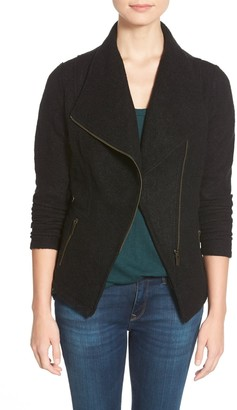 Halogen Knit Moto Jacket (Regular, Petite & Plus Size)