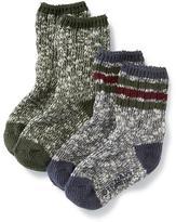 Old Navy Non-Skid Marled Socks 2-Pack for Toddler & Baby