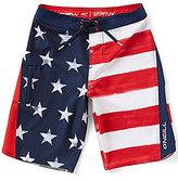 O'Neill Big Boys 8-20 Superfreak Scallop Americana Board Shorts