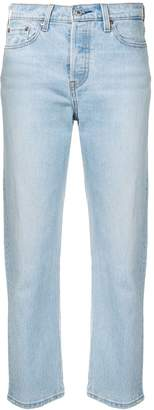 Levi's straight cropped jeans